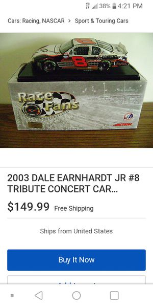 Dale Jr Platinum Limited Edition Car for Sale in Ruskin, FL