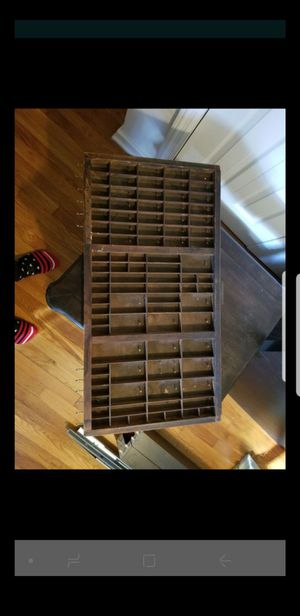 Vintage Printer Tray jewelry/makeup holder for Sale in Alexandria, VA