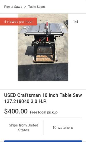 Craftsman table saw for Sale in Bakersfield, CA