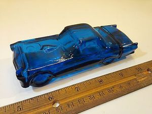 1/5 Vintage Avon Thunderbird '55 Deep Woods After Shave blue glass ford 1955 antique for Sale in St. Louis, MO