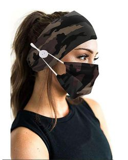 New Camouflage Face Mask with Matching Headband for Sale in Lanham,  MD
