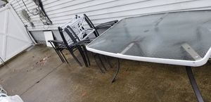 7 pieces outdoor Glass patio Furniture Set. for Sale in Lindenhurst, NY