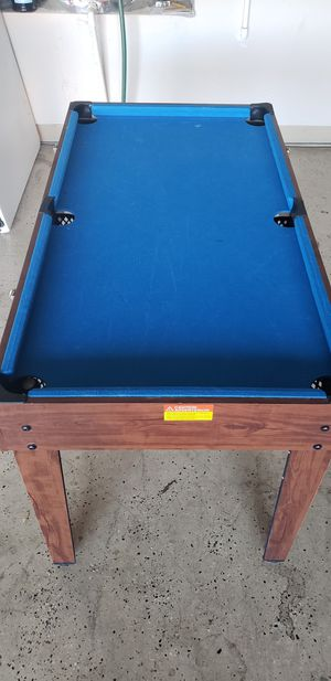 Kids 3 in 1 Game Table, Pool, Foosball, Air Hockey for Sale in Murrieta, CA