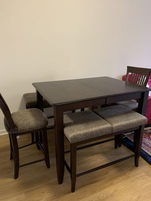 Dining table with two matching chairs and benches for Sale in Alexandria, VA