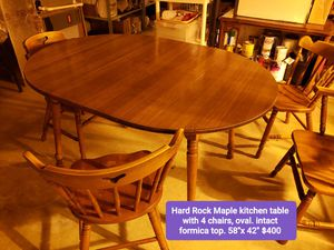 Hard Rock Maple kitchen table with formica top for Sale in Martinsburg, WV
