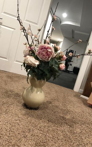 Pink and White Flower Vase for Sale in West Linn, OR