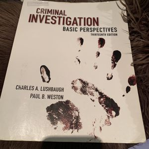 Criminal Investigation: Basic Perspectives for Sale in Whittier, CA