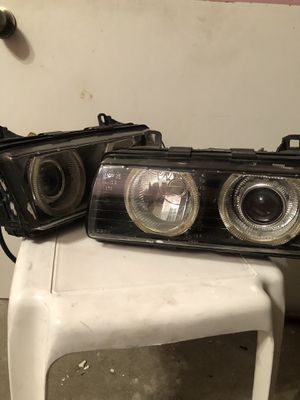DEPO Angel Eyes projector headlights for e36 for Sale in Sacramento, CA