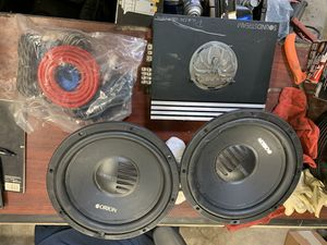 Car radio amplifier with subwoofer speakers for Sale in Fairfax, VA