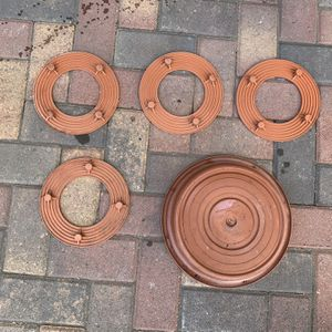 8 inch under pot plant surface saver terra cota and 12 in saucer tray planter - anillo para plantas y macetas for Sale in Anaheim, CA