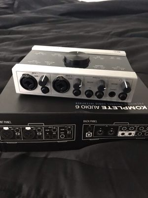 Native instruments komplete audio 6 audio interface for Sale in Los Angeles, CA