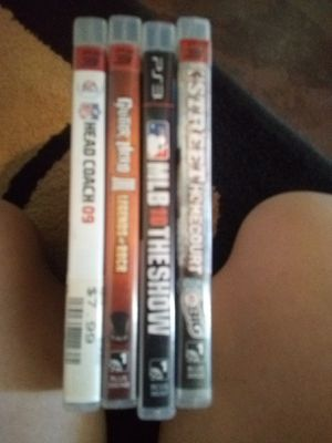 $10 each or all $25 4 great PS3 games must pick up for Sale in Phoenix, AZ