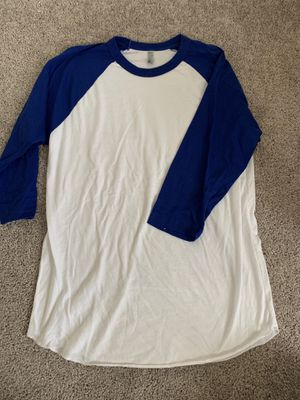 Medium blue and white baseball tee for Sale in Austin, TX