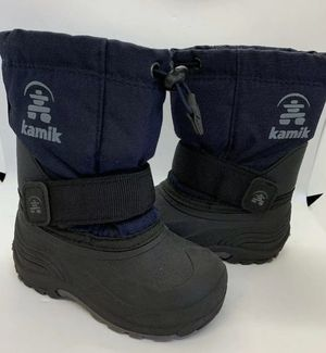 Kamik Winter Snow Boots Toddler Size 8 With Liners WaterproofBlue & Black for Sale in San Marcos, CA