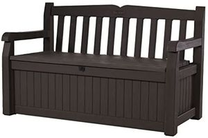 Brown 70 Gallon Storage Bench Deck Box Outdoor Use for Sale in Henderson, NV