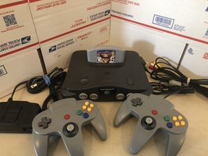 Nintendo 64, N64 System / Console Bundle + Cables + 2 Controllers+ Mario Party 2 for Sale in Lowellville, OH