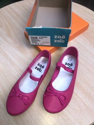Zoe & Zac- fae string tie flat shoes- color: hot pink- size: 11 1/2- little kids for Sale in Brooklyn, NY