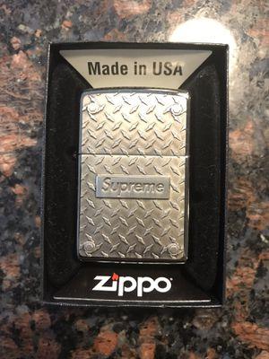 Supreme Diamond Plate Zippo for Sale in Swarthmore, PA
