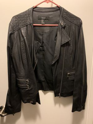 Size small black leather jacket for Sale in Orange, CA