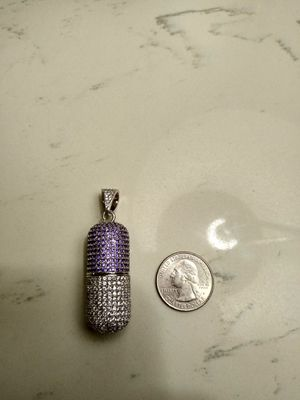 Fully Iced Out White Gold Pill Capsule (opens) for Sale for sale  Fresno, CA