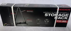 Weider Weight Plate & Barbell Storage Rack for Sale in Lewis Center, OH