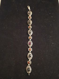 Sterling Silver Bracelet with Multicolor Stones for Sale in Hyattsville,  MD