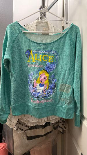 Disney cast member exclusive Alice in wonderland off the shoulder sweater for Sale in Anaheim, CA