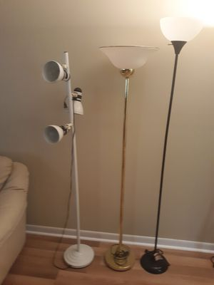 3 floor lamps 10.00 for Sale in Coral Springs, FL