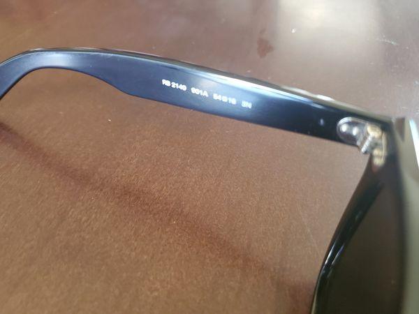 Ray-Ban RB2140 901A Wayfarers black lens