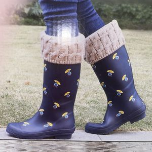 New Navy Ducks with Umbrellas Ladies Tall Rain Boots for Sale in Oldsmar, FL