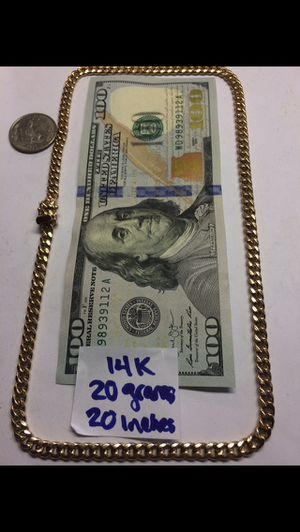 14K Gold Chain 🇨🇺 Links 20Gr 20 Inches for Sale in Miramar, FL