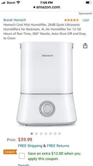 Cool Mist Humidifier white new for Sale in Dallas, TX