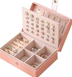 Pink Jewelry Storage Organizer Necklace Earring Ring Jewelry Box for Sale in Franklin,  TN