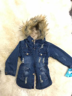 Distress girls denim coat size 6 for Sale in River Grove, IL