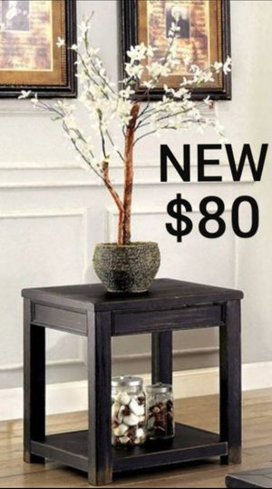 Antique Black Wood End Table for Sale in Montebello, CA