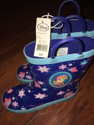 Frozen rain boots for Sale in Chino, CA