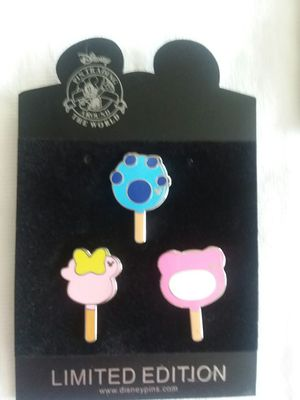 Hong Kong Disney trading pin set. Ice cream! for Sale in Houston, TX