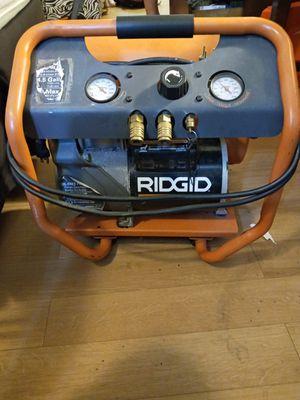 RIGID 4.5 GALLON oil free AIR COMPRESSOR for Sale in Portland, OR