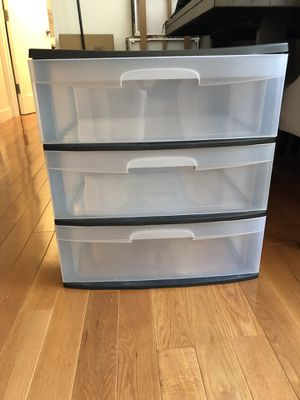 Multiple 3 drawer plastic storage units for Sale in New York, NY