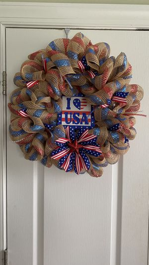 Patriotic wreaths for Sale in Princeton, NC