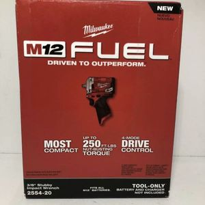 Milwaukee 2554-20 M12 FUEL brushless 3/8 in Dr Stubby Impact Wrench New In Box for Sale in Brooklyn, NY