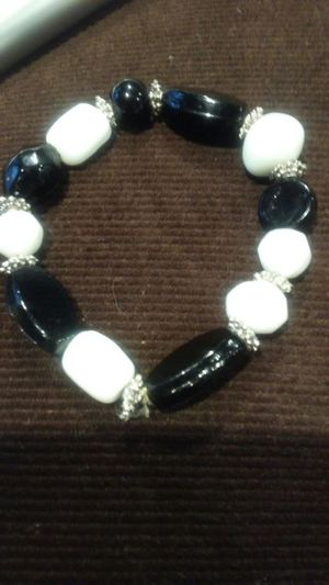 Black and white glass bead bracelet for Sale in Salt Lake City, UT