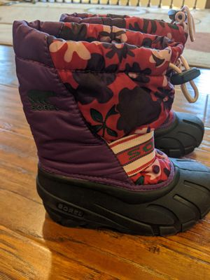 Girls snow boots size 12 Sorel for Sale in West Sacramento, CA