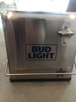 Bud light stainless steal cooler for Sale in Edison, NJ