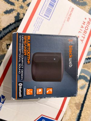 Blackweb Bluetooth Speaker BWA18AA010 for Sale in Malden, MA