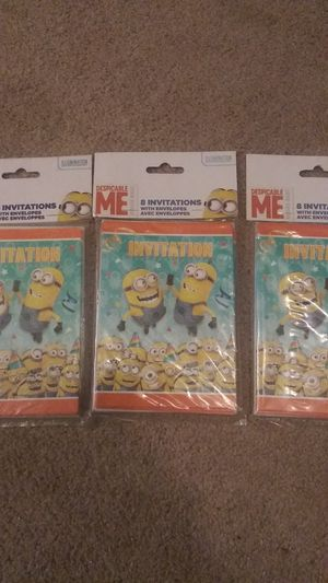 Minions invitations for Sale in Boiling Springs, SC