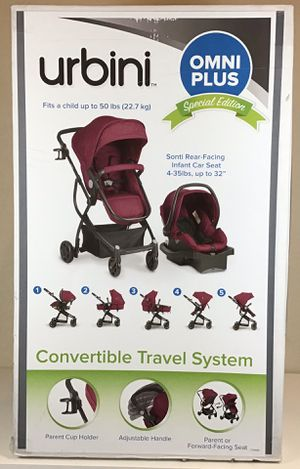 Stroller & Car Seat Urbini Omni Plus 5 Modes Travel System Raspberry Fizz for Sale in Land O Lakes, FL