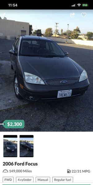 Focus 2.3 L for Sale in Fontana, CA