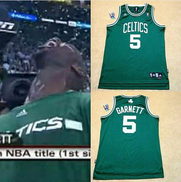 Boston Celtics garnett Jersey Sz-L Red Sox Patriots adidas Nike jordan rondo tatum