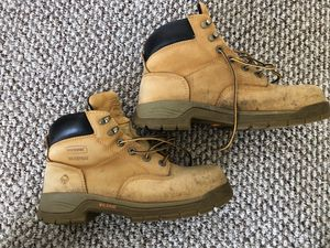 Wolverine Mens Sz 10 Waterproof Brown Safety Leather Steel Toe Work Boots. Only worn a couple times. Great condition. for Sale in Washington, DC